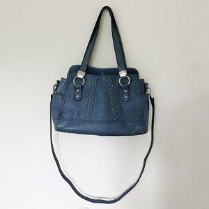 B. Makowsky Cobalt Blue Studded Blue Ria Satchel